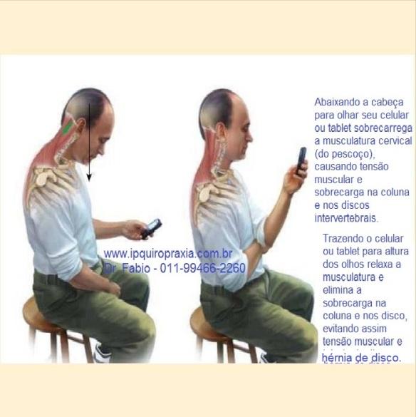 tensão no pescoço e hérnia de disco cervical.