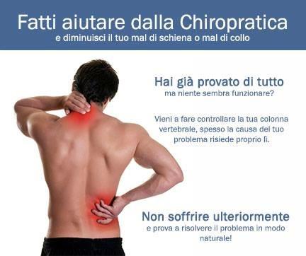 aiuto dalla chiropratica